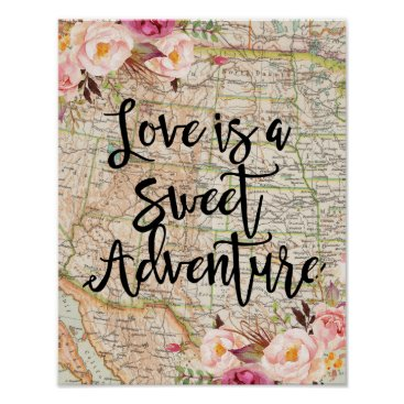 HappyPartyStudio Love is a sweet adventure poster