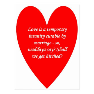 love-is-a-temporary-insanity-curable-by-01 postcard