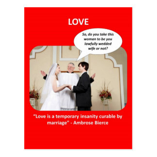 love-is-a-temporary-insanity-curable-by-02 postcard