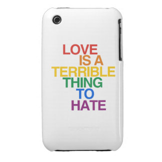 LOVE IS A TERRIBLE THING TO HATE Case-Mate iPhone 3 CASE