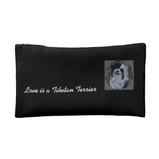 Love is a Tibetan Terrier Cosmetic Bag
