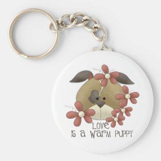 Love Is A Warm Puppy Keychain