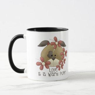 Love Is A Warm Puppy Mug