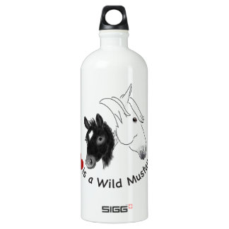 Love is a Wild Mustang Aluminum Water Bottle