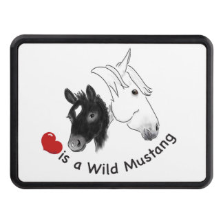 Love is a Wild Mustang Hitch Covers