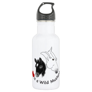 Love is a Wild Mustang Water Bottle