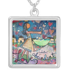 Love Is Abundant Valentine Necklace at Zazzle