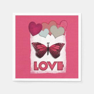 Love Is All Around Valentine's Day Paper Napkins