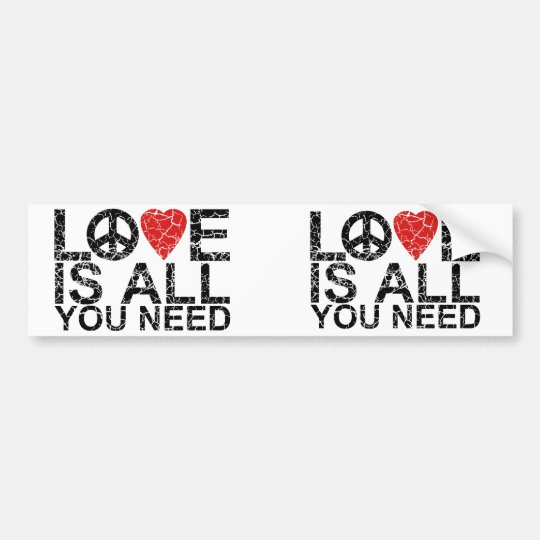 Love is All Bumper Sticker