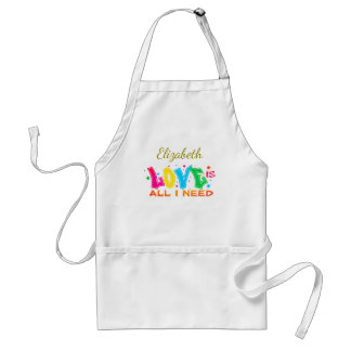 Love is All I Need Adult Apron