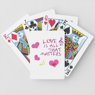 Love is all that matters bicycle playing cards
