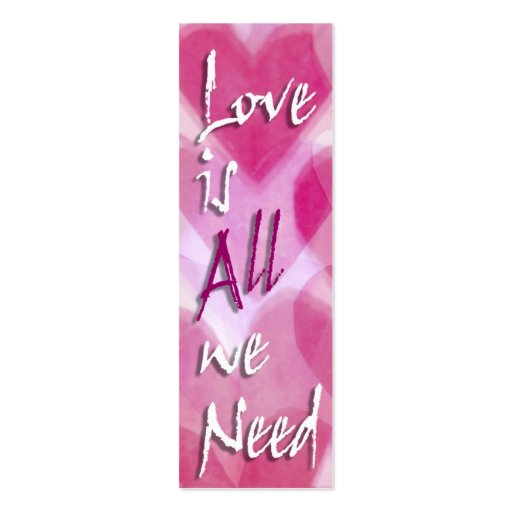 Love is All We Need Mini Cards - Gift Tags Business Card