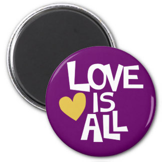 Love Is All words design Magnet