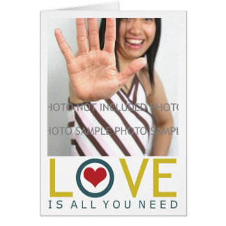 Love is All You Need Add Picture Card Template