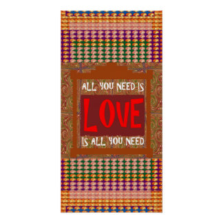 Love is all you need, ALL you need is Love Wisdom Poster