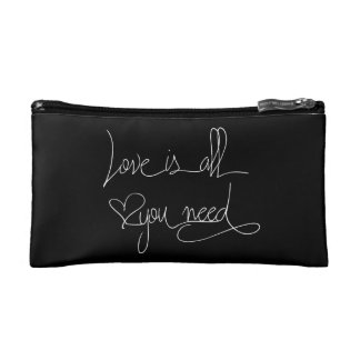 Love is all you need cosmetic bags