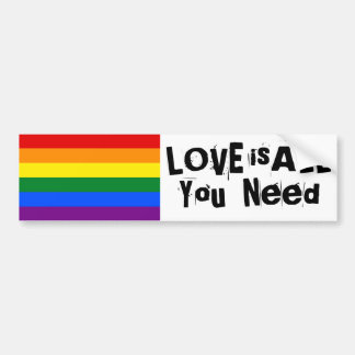 Love is all you need bumper sticker car bumper sticker