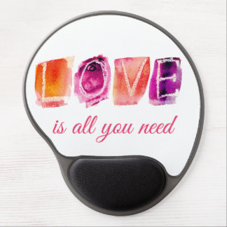 Love is all you need colourful gel mouse pad