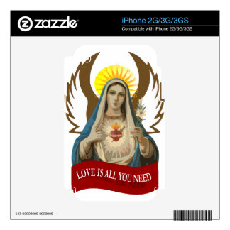 Love is all you need - Holy Mary iPhone 2G/3G Skin For The iPhone 3GS