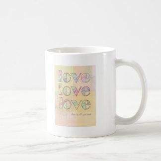 Love is all you need classic white coffee mug