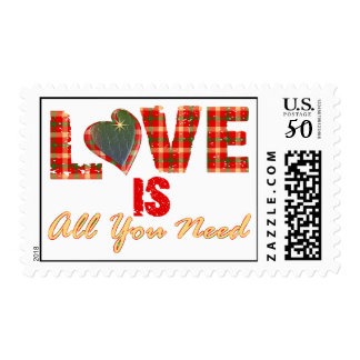 Love Is All You Need Postage Stamps