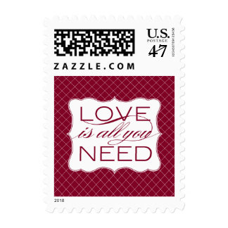Love is All You Need Preppy Pattern Postage