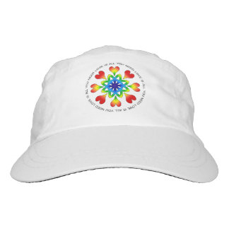 Love is All You Need Pride Performance Hat, White Hat