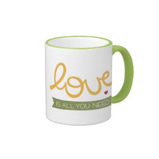 love is all you need ringer mug