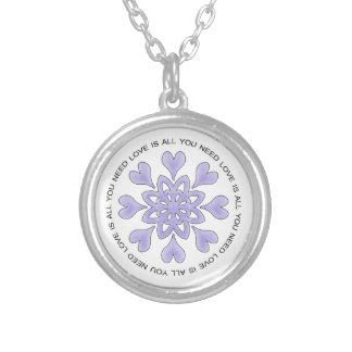 Love is All You Need Round Pendant Necklace
