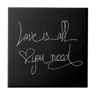 Love is all you need tile