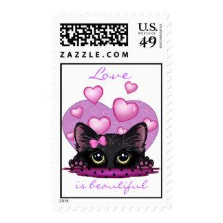 Love Is Beautiful Custom Postage Stamp