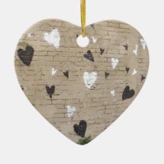 Love Is Black And White Ceramic Ornament