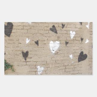 Love Is Black And White Rectangular Sticker