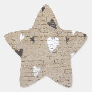 Love Is Black And White Star Sticker