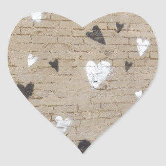 Love Is Black And White Heart Stickers