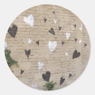 Love Is Black And White Round Sticker