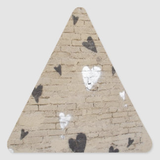 Love Is Black And White Triangle Sticker