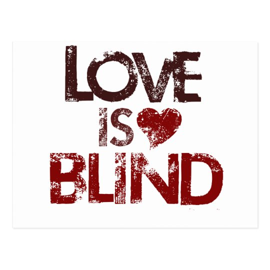 Love is Blind Postcard