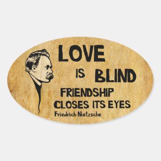 Love is Blind Oval Sticker