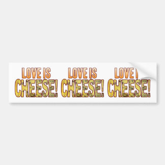 Love Is Blue Cheese Bumper Sticker
