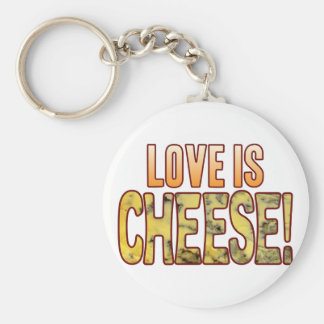Love Is Blue Cheese Keychain