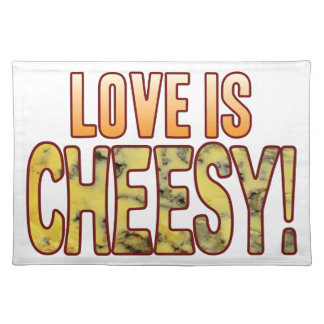 Love Is Blue Cheesy Cloth Placemat