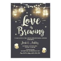 Love is brewing bbq rehearsal bridal shower invitation