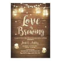Love is brewing bbq rehearsal bridal shower Wood Invitation