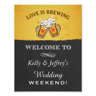 Love is Brewing Brewery Wedding Sign