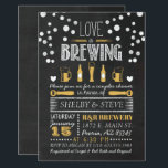 """Love is Brewing Bridal Shower Invitation<br><div class=""""desc"""">Looking to have a fun themed shower with beers and cheers?  If so,  this design might be perfect for you!</div>"""