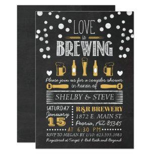 Chalkboard bridal shower invitations zazzle love is brewing bridal shower invitation filmwisefo