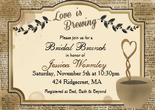 10c62aeba17c Love is Brewing Coffee Bridal Shower Invitation