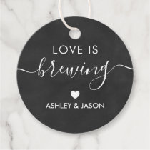 Love is Brewing, Coffee Gift Tag, Wedding Favor Tags