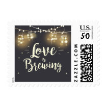 Love is brewing postage stamps Engagement Wedding